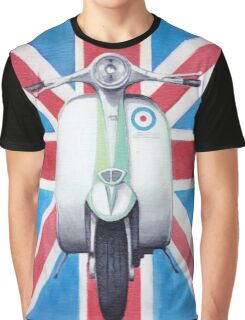Scooter on Union Jack Graphic T-Shirt