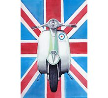 Scooter on Union Jack Photographic Print
