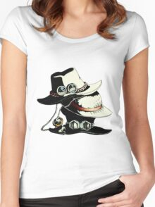 ONE PIECE - LUFFY, ACE, SABO'S HAT Women's Fitted Scoop T-Shirt