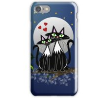 Cats in Love, vector illustration iPhone Case/Skin