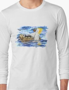 A Fluffy Bird Lost at Sea Long Sleeve T-Shirt
