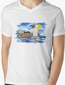 A Fluffy Bird Lost at Sea Mens V-Neck T-Shirt