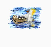A Fluffy Bird Lost at Sea Womens Fitted T-Shirt