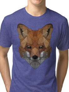 Geometric Fox Tri-blend T-Shirt