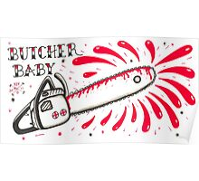 Butcher Baby on White Poster