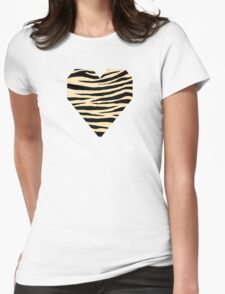 0521 Peach Tiger Womens Fitted T-Shirt