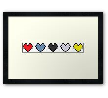 The Binding of Isaac, hearts Framed Print