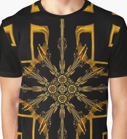 Jungle Tapas in Brown and Black Expolding Star Design Graphic T-Shirt