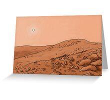 Mars Landscape Greeting Card