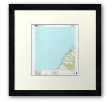 USGS TOPO Map Hawaii HI Waimea 349791 1983 24000 Framed Print