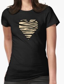 0523 Peach Yellow Tiger Womens Fitted T-Shirt