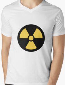 Radioactive Symbol  Mens V-Neck T-Shirt