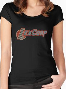 LexCorp Neon Logo Women's Fitted Scoop T-Shirt