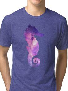 Galaxy Seahorse Tri-blend T-Shirt