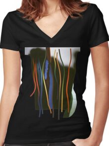 Tendrils and thorns Women's Fitted V-Neck T-Shirt