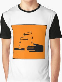 Corrosive Substance Symbol  Graphic T-Shirt