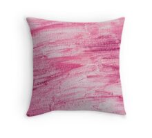Dark red abstract water color textured background  Throw Pillow