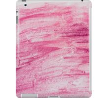 Dark red abstract water color textured background  iPad Case/Skin