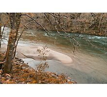 Autmun scene at Paiva River Photographic Print