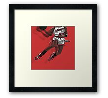"Jumpman ""23"" White Framed Print"