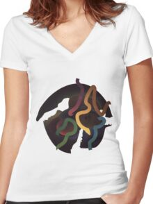 Airball Women's Fitted V-Neck T-Shirt