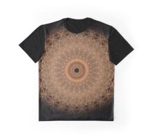Mandala in golden and brown tones Graphic T-Shirt