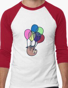 Sloth Floating Away Men's Baseball ¾ T-Shirt