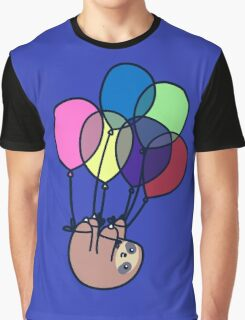 Sloth Floating Away Graphic T-Shirt