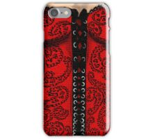 Red Paisley Corset iPhone Case/Skin