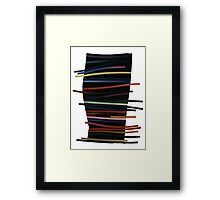 Ribbon Float Framed Print