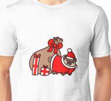 Christmas Santa Claus Pug Unisex T-Shirt