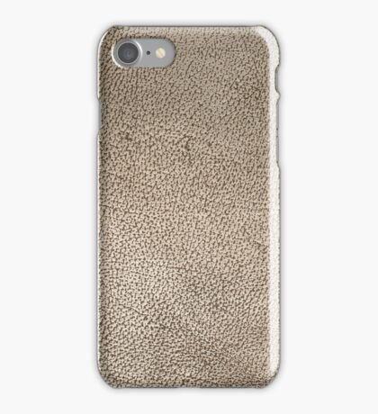 Old aged brown leather iPhone Case/Skin