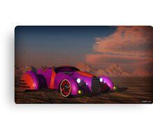 Grobo Car in a Desert Setting Canvas Print