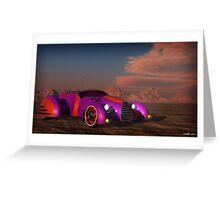 Grobo Car in a Desert Setting Greeting Card