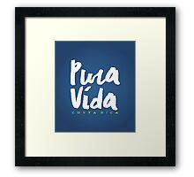 Pura Vida Costa Rica Framed Print