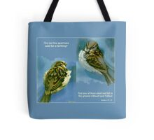 Two Sparrows Tote Bag