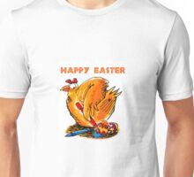 happy easter caricature chicken paint own eggs Unisex T-Shirt