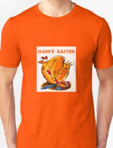 happy easter caricature chicken paint own eggs T-Shirt