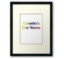 Colombia's Elite Warrior  Framed Print