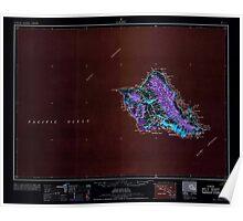 USGS TOPO Map Hawaii HI Oahu 349937 1965 250000 Inverted Poster