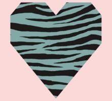 0526 Pearl Aqua Tiger Kids Tee
