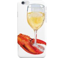 Lobster Claw and Wine iPhone Case/Skin