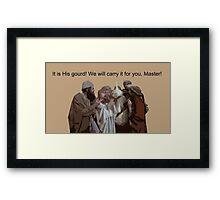 Holy gourd of Jerusalem Framed Print