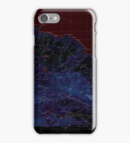 USGS TOPO Map Hawaii HI Anahola 349214 1996 24000 Inverted iPhone Case/Skin