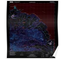 USGS TOPO Map Hawaii HI Anahola 349214 1996 24000 Inverted Poster