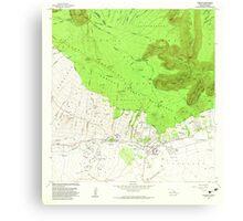 USGS TOPO Map Hawaii HI Kamuela 349367 1982 24000 Canvas Print
