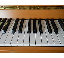 Section of Yamaha Piano Keyboard Photographic Print