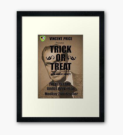 Trick or Treat Poster Framed Print