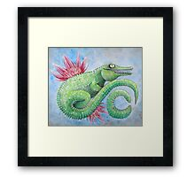 C is for crocodile  Framed Print