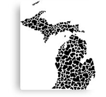 michigan love Canvas Print